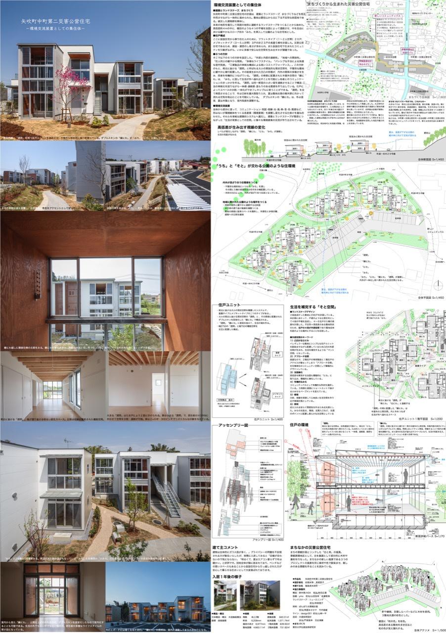 矢吹町中町第二災害公営住宅 -環境交流装置としての集住体-