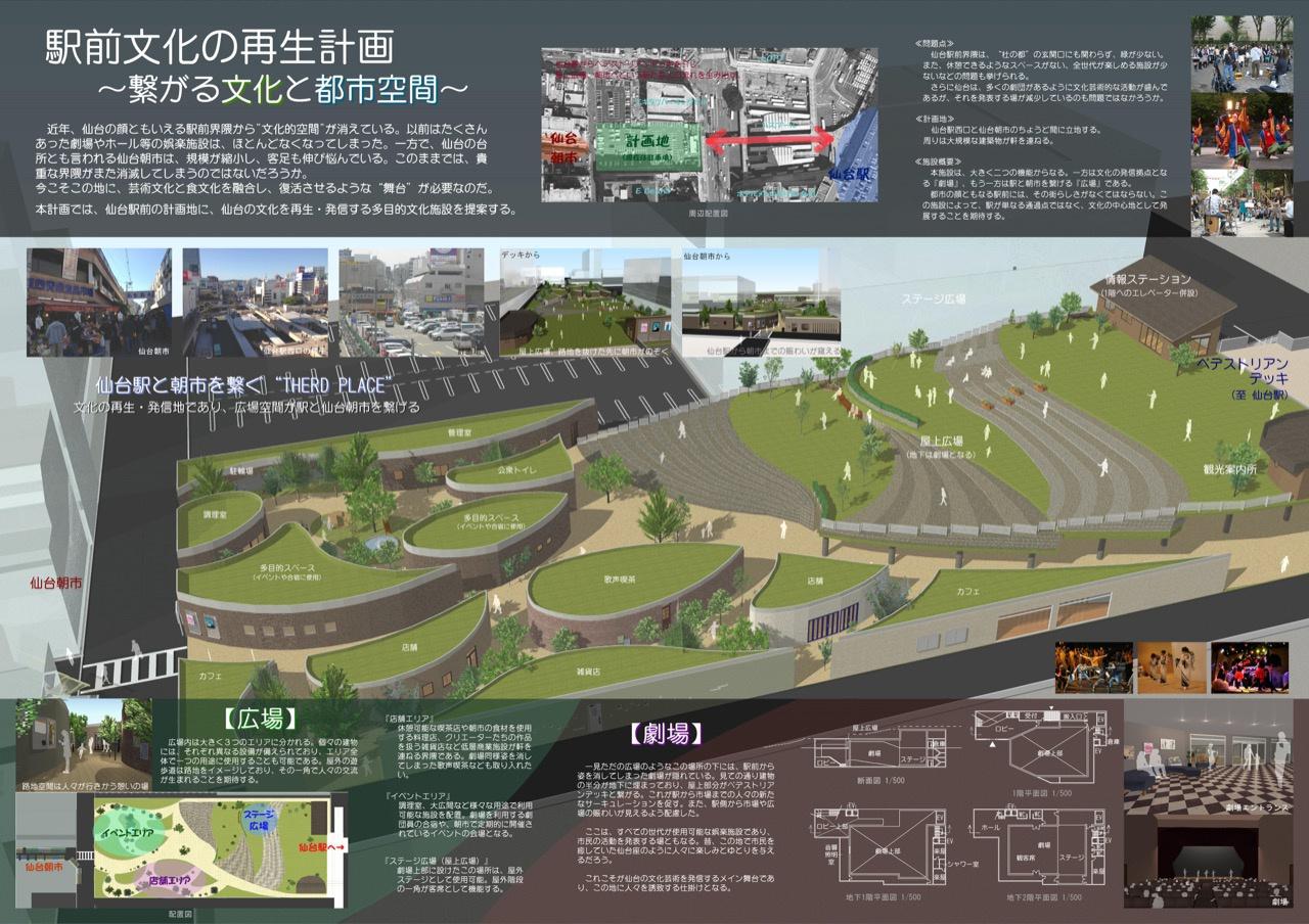 駅前文化の再生計画 〜繋がる文化と都市空間〜