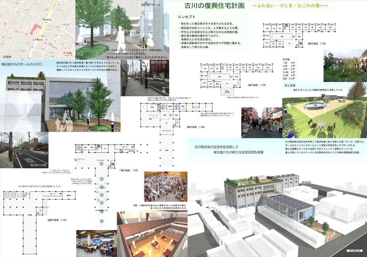古川の復興住宅計画 〜ふれあい・げんき・なごみの場へ〜